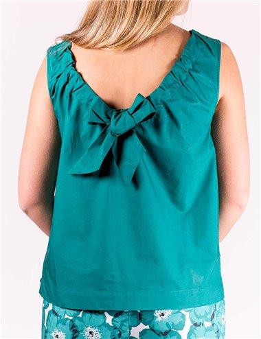 Pennyblack - Top in popeline di cotone Verde