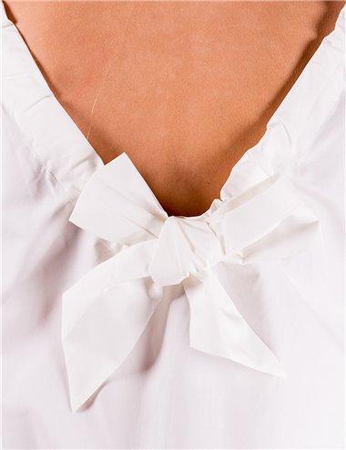 Pennyblack - Top in popeline di cotone Bianco