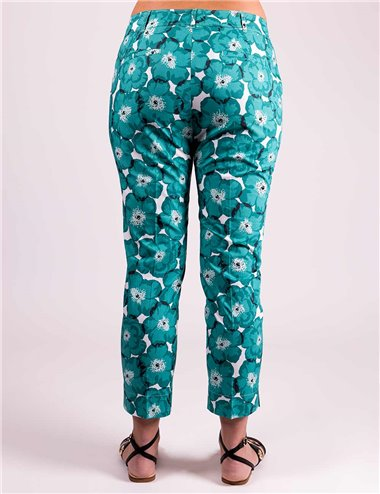 Pennyblack - Pantaloni in popeline floreale