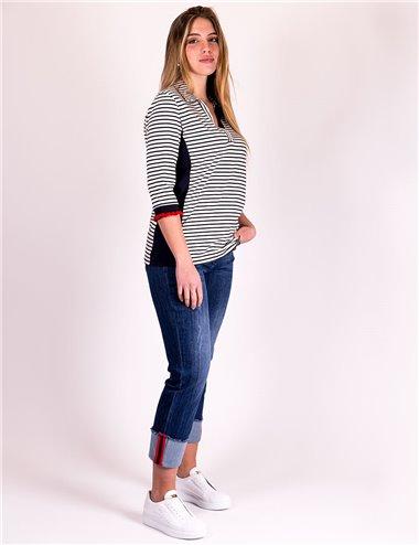 Elena Mirò - Jeans cropped con risvolto