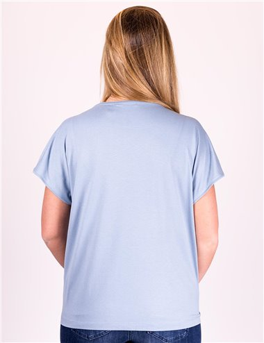 Elena Mirò - T-shirt in raso e jersey
