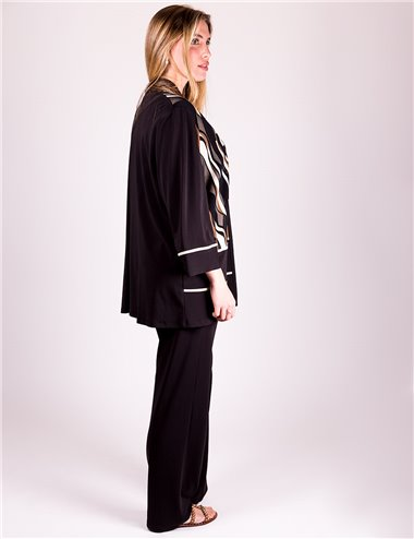 Mirella Matteini - Pantaloni viscosa elasticizzata nero