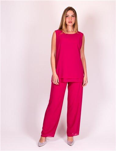 Giglio Rosso - Completo pantaloni e top fucsia
