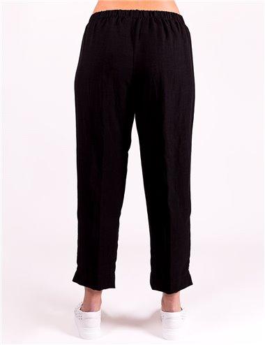 Giglio Rosso - Pantaloni con elastico in vita nero