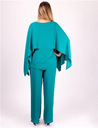 Gaia Life - Completo casacca e pantaloni verde tiffany