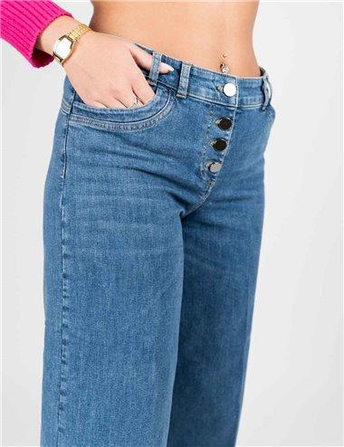 Elena Mirò - Pantalone Jeans cropped denim
