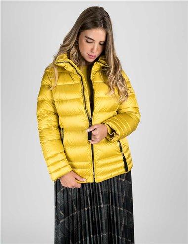 Elena Mirò - Giaccone piumino in vera piuma giallo