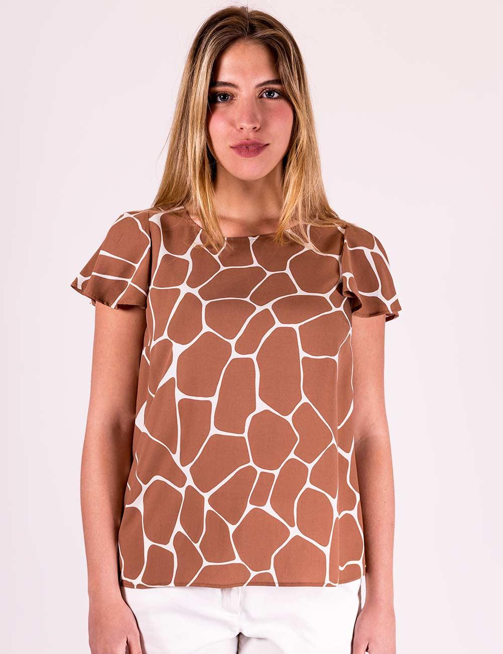 Pennyblack - Blusa in popeline stampato