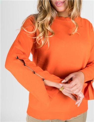 Elena Mirò - Maglia collo a barchetta arancio