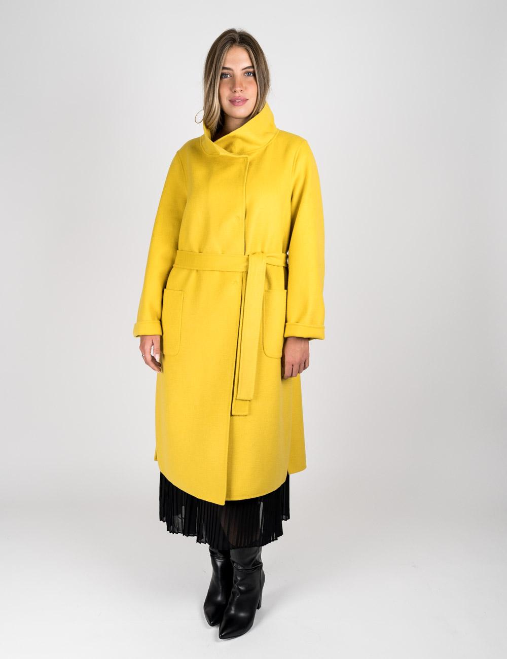 Elena Mirò - Cappotto double giallo