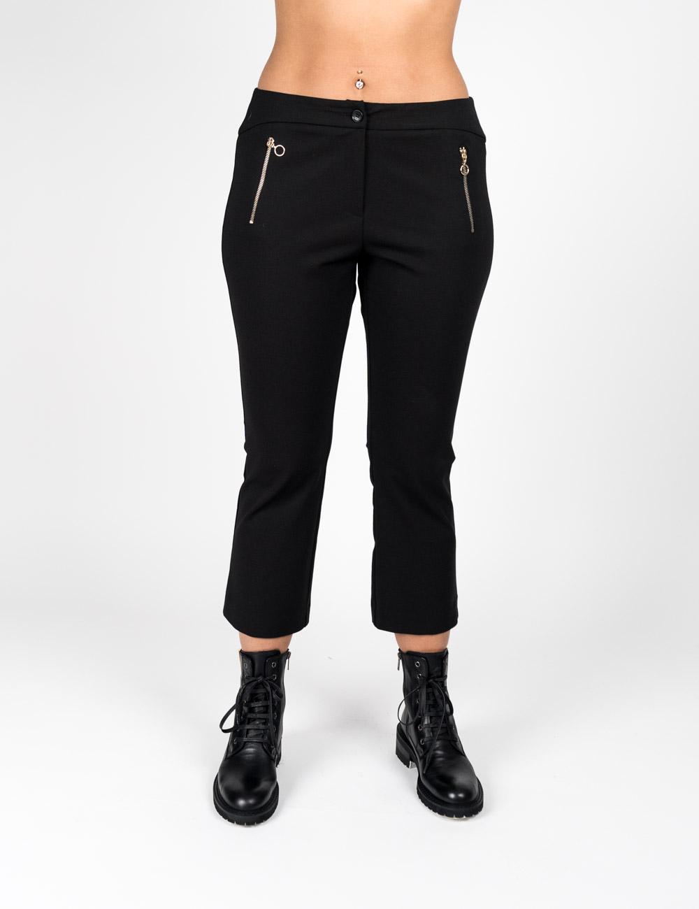 Gaia Life - Pantalone con fondo a zampetta nero