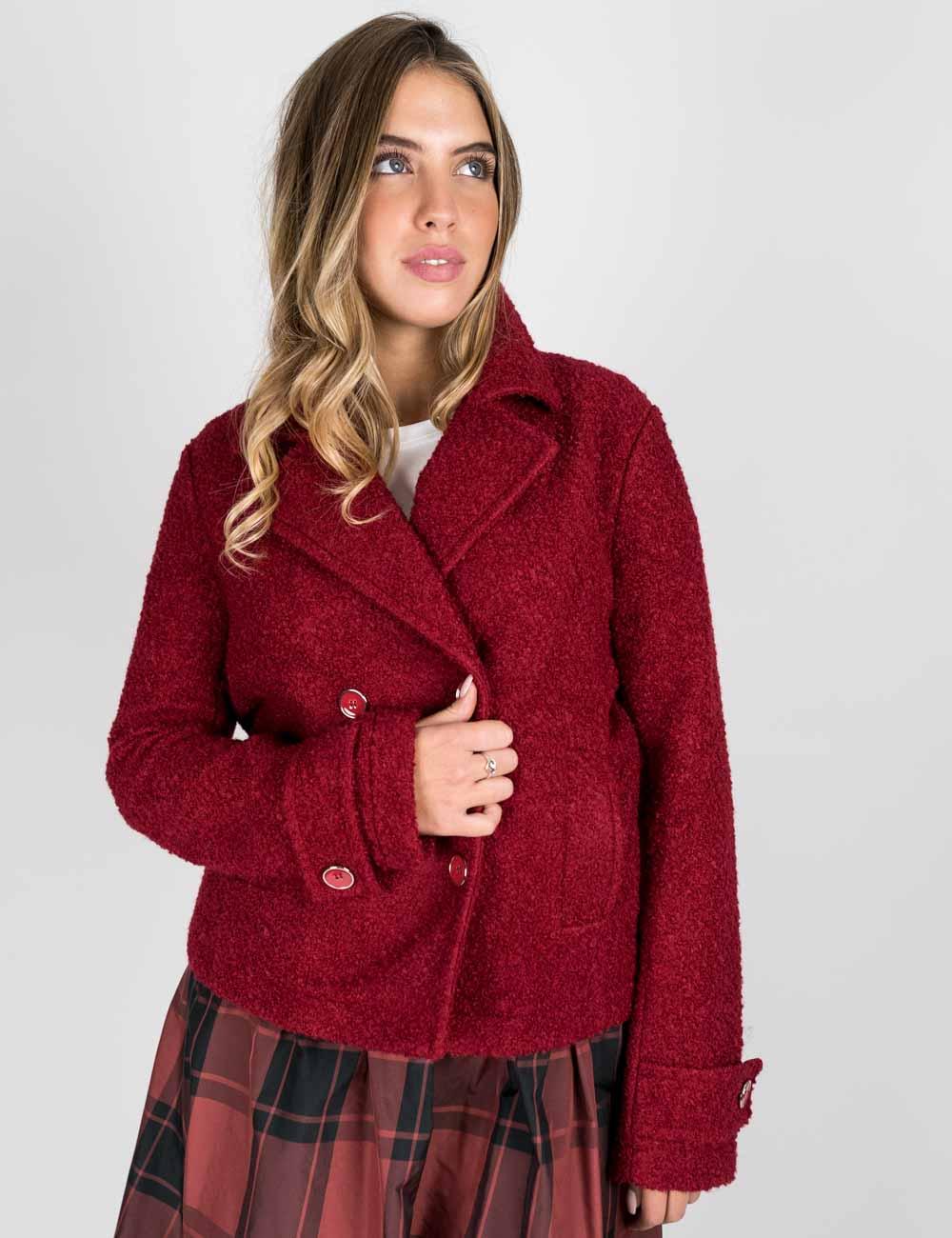 Pennyblack - Giacca in jersey bouclè bordeaux