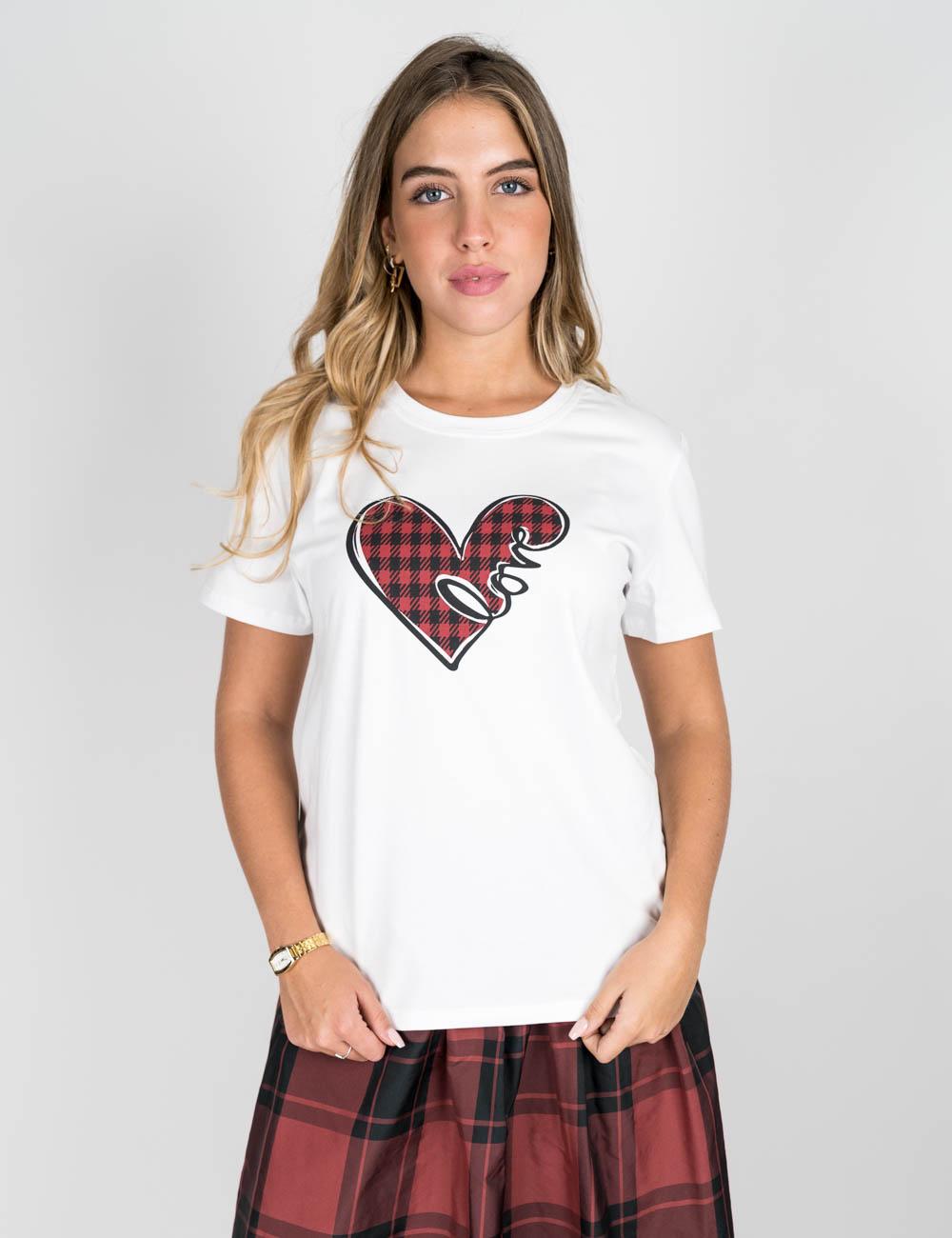 Pennyblack - T-shirt love in cotone elasticizzato bianco