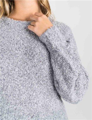 Pennyblack - Maglia in filato bouclè grigio