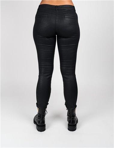 Pennyblack - Pantaloni skinny in raso spalmato nero