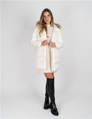 Pennyblack - Giaccone imbottito con cappuccio bianco