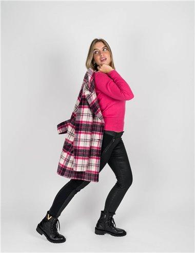 Pennyblack - Giaccone in tessuto scozzese fucsia