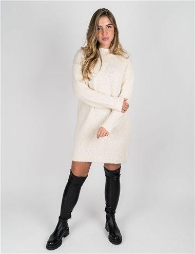 Pennyblack - Abito in maglia lana e alpaca burro
